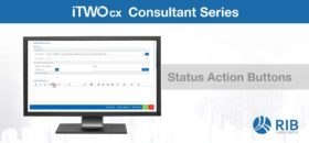 iTWO cx Feature Status Action Buttons