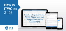 New in iTWO cx Interface Improvements